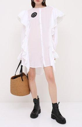Женское хлопковое платье ULYANA SERGEENKO белого цвета, арт. ABC002SS20P (0135т20) | Фото 2