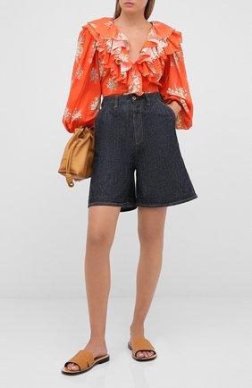Женская хлопковая блузка ULYANA SERGEENKO красного цвета, арт. CMA003SS20P (0307т20) | Фото 2