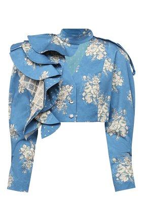 Женский шелковый жакет ULYANA SERGEENKO синего цвета, арт. GBT002SS20P (0199т20) | Фото 1