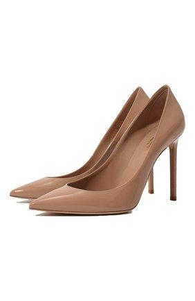 Женская кожаные туфли anja SAINT LAURENT бежевого цвета, арт. 471988/0NP00 | Фото 1