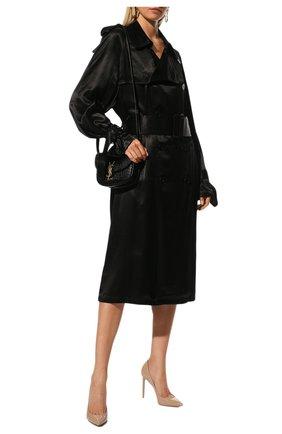 Женская кожаные туфли anja SAINT LAURENT бежевого цвета, арт. 471988/0NP00 | Фото 2