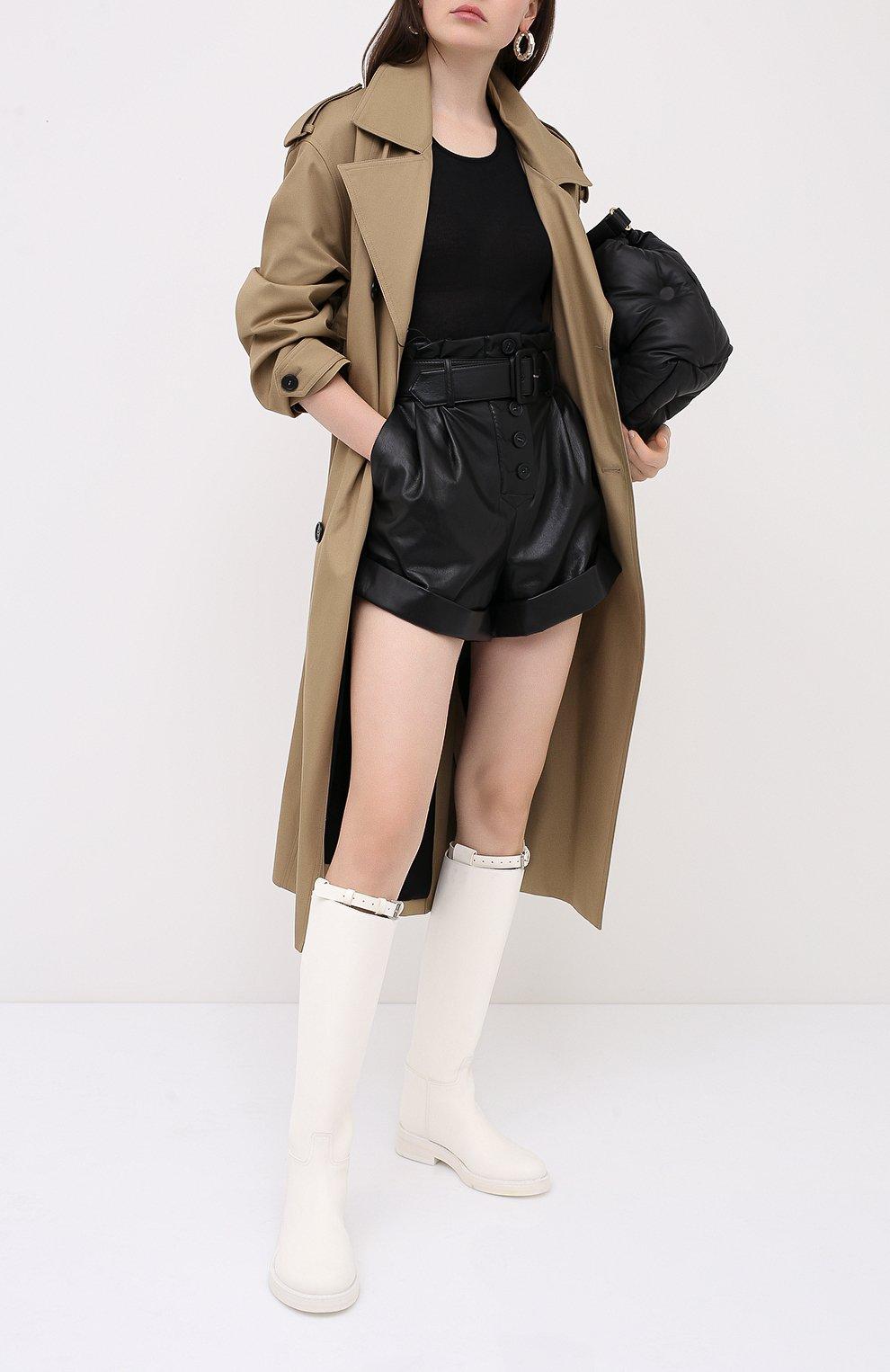 Женские шорты с поясом SELF-PORTRAIT черного цвета, арт. PF20-135   Фото 2 (Женское Кросс-КТ: Шорты-одежда; Длина Ж (юбки, платья, шорты): Мини; Материал внешний: Синтетический материал; Материал подклада: Синтетический материал; Стили: Кэжуэл)