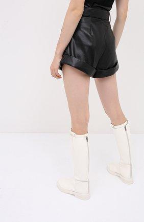 Женские шорты с поясом SELF-PORTRAIT черного цвета, арт. PF20-135   Фото 4 (Женское Кросс-КТ: Шорты-одежда; Длина Ж (юбки, платья, шорты): Мини; Материал внешний: Синтетический материал; Материал подклада: Синтетический материал; Стили: Кэжуэл)