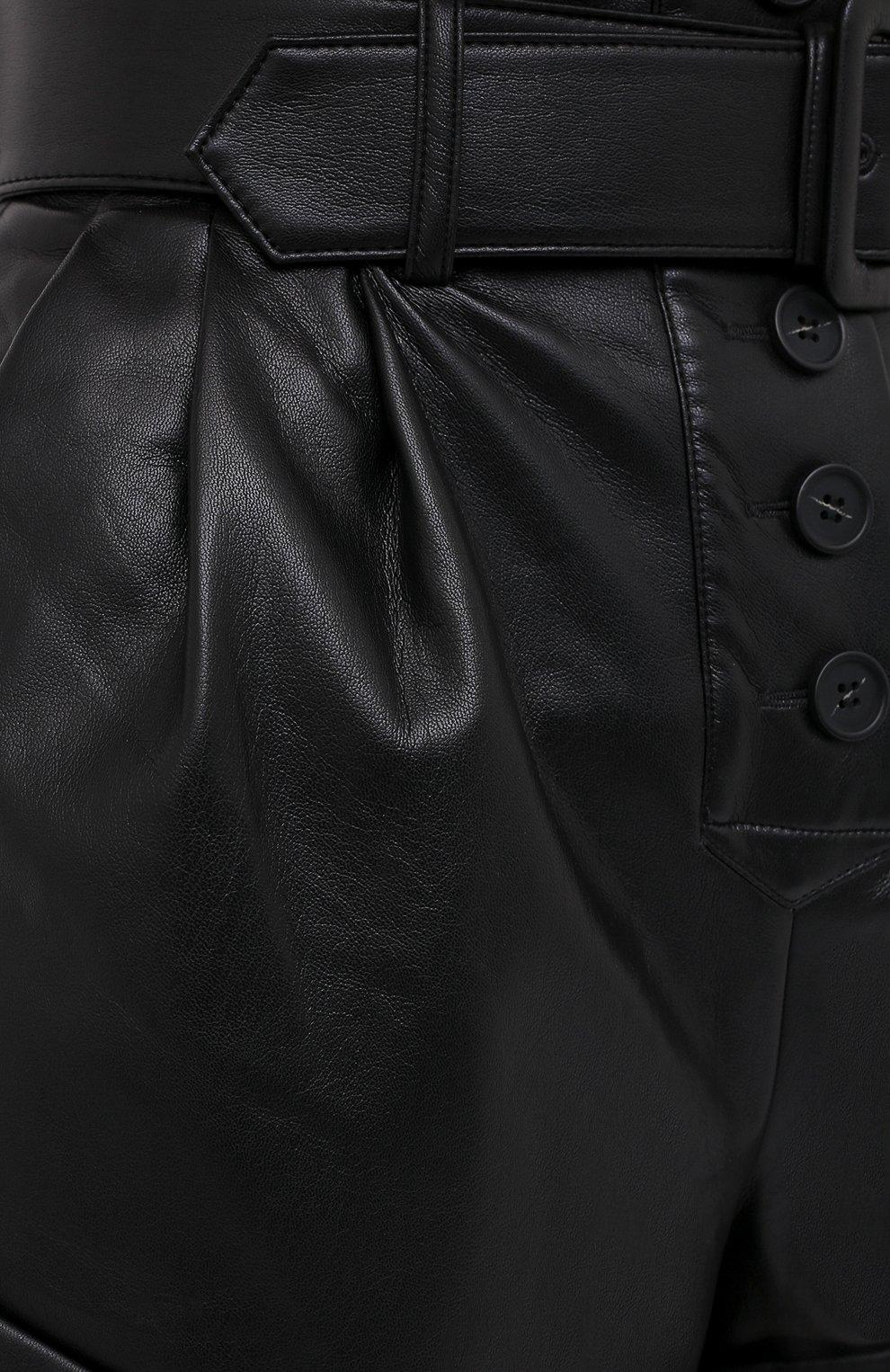Женские шорты с поясом SELF-PORTRAIT черного цвета, арт. PF20-135   Фото 5 (Женское Кросс-КТ: Шорты-одежда; Длина Ж (юбки, платья, шорты): Мини; Материал внешний: Синтетический материал; Материал подклада: Синтетический материал; Стили: Кэжуэл)