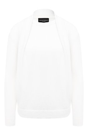 Женский кашемировый пуловер EMPORIO ARMANI белого цвета, арт. 6H2MWI/2M24Z | Фото 1