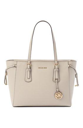 Женская сумка-тоут voyager medium MICHAEL MICHAEL KORS бежевого цвета, арт. 30H7GV6T8L | Фото 1