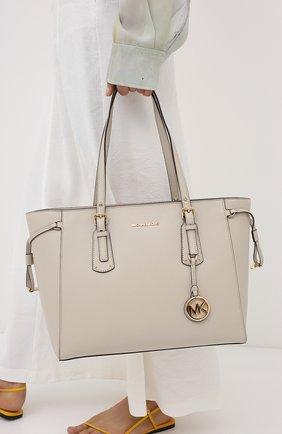 Женская сумка-тоут voyager medium MICHAEL MICHAEL KORS бежевого цвета, арт. 30H7GV6T8L | Фото 2