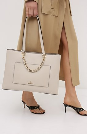 Женская сумка cece MICHAEL MICHAEL KORS бежевого цвета, арт. 30S0G0ET2L | Фото 2