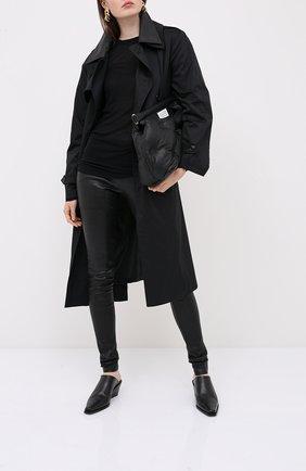 Женские брюки RICK OWENS черного цвета, арт. RP20F2319/LS   Фото 2