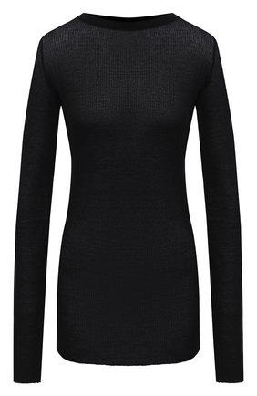 Женская пуловер из вискозы и шелка RICK OWENS черного цвета, арт. RP20F2202/RC   Фото 1