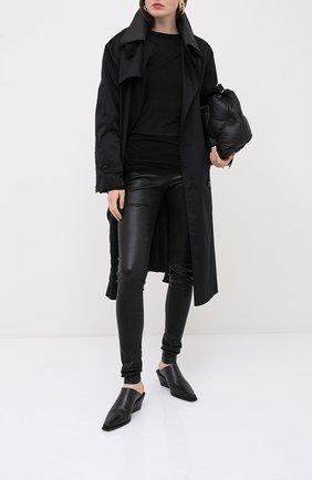 Женская пуловер из вискозы и шелка RICK OWENS черного цвета, арт. RP20F2202/RC   Фото 2
