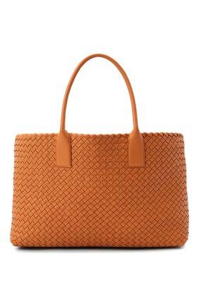 Женская сумка cabat medium BOTTEGA VENETA коричневого цвета, арт. 608810/VATH3 | Фото 1