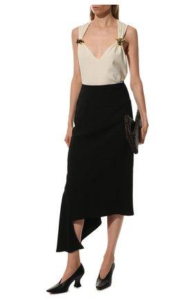 Женские кожаные туфли almond BOTTEGA VENETA черного цвета, арт. 608839/VBSD0 | Фото 2