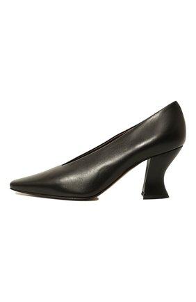 Женские кожаные туфли almond BOTTEGA VENETA черного цвета, арт. 608839/VBSD0 | Фото 4
