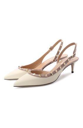 Женская кожаные туфли valentino garavani rockstud VALENTINO белого цвета, арт. UW2S0H14/V0D | Фото 1