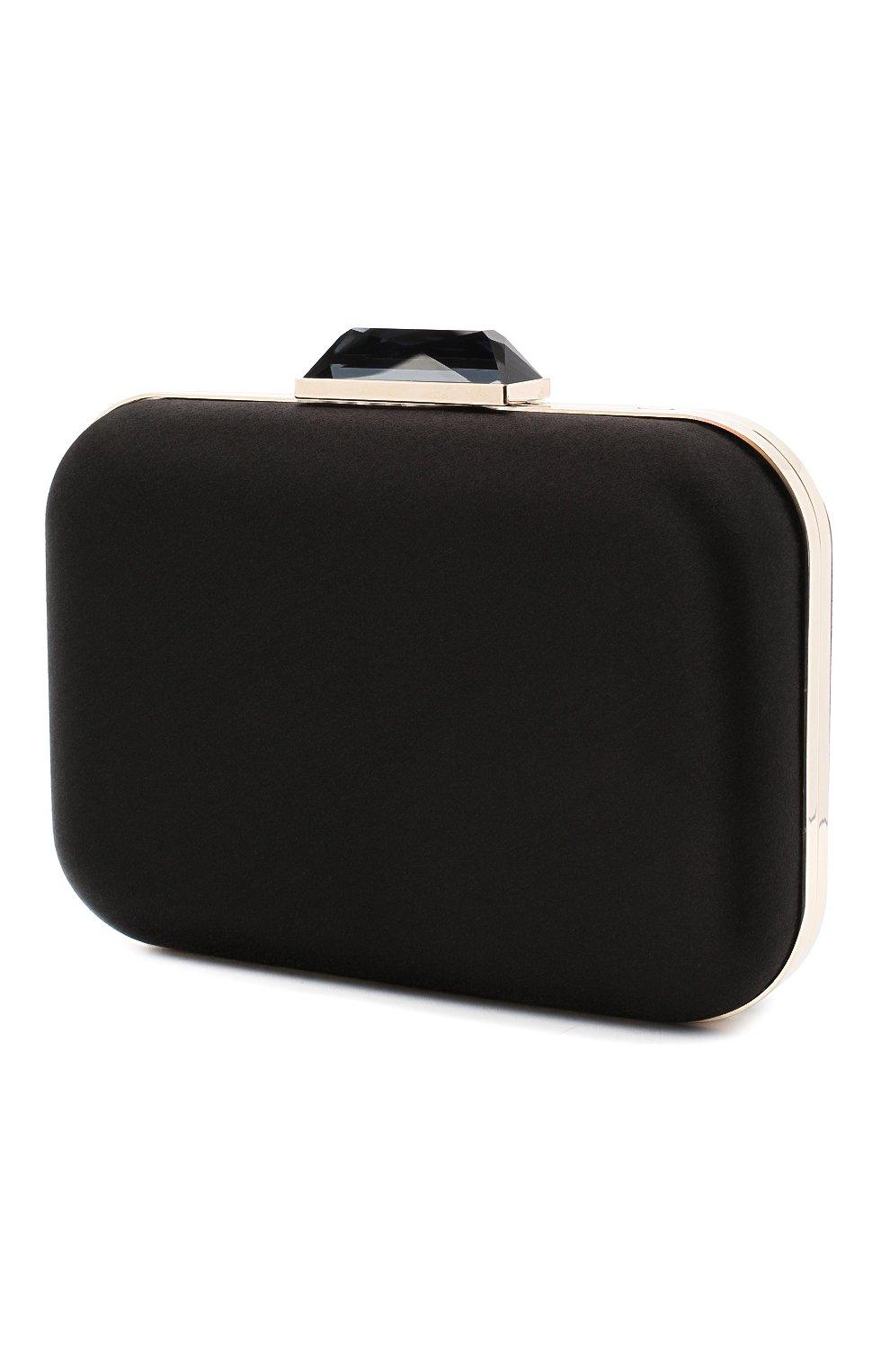 Женский клатч JIMMY CHOO черного цвета, арт. CL0UD/XL/I0R | Фото 3
