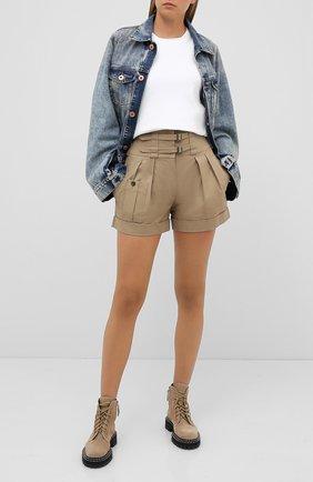 Женские хлопковые шорты DOLCE & GABBANA бежевого цвета, арт. FTBSGT/FU6WF | Фото 2