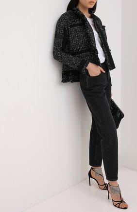 Женские замшевые босоножки bijou 100 JIMMY CHOO черного цвета, арт. BIJ0U 100/DRS | Фото 2