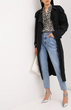 Женская кожаные туфли birtie 85 JIMMY CHOO серебряного цвета, арт. BIRTIE 85/DRU | Фото 2
