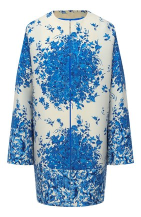 Женское пальто из шерсти и шелка VALENTINO голубого цвета, арт. UB3CA5105LT | Фото 1