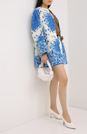 Женское пальто из шерсти и шелка VALENTINO голубого цвета, арт. UB3CA5105LT | Фото 2