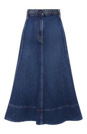 Женская джинсовая юбка VALENTINO голубого цвета, арт. UB3DD10G1LL | Фото 1