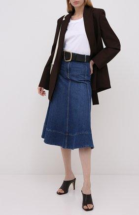 Женская джинсовая юбка VALENTINO голубого цвета, арт. UB3DD10G1LL | Фото 2