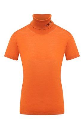 Женский шерстяной пуловер VALENTINO оранжевого цвета, арт. UB3KC16F5NU | Фото 1