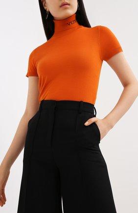 Женский шерстяной пуловер VALENTINO оранжевого цвета, арт. UB3KC16F5NU | Фото 3
