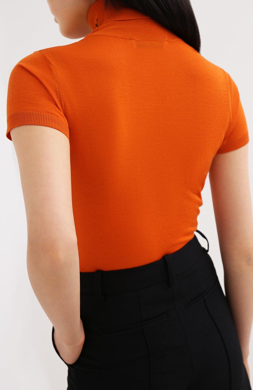 Женский шерстяной пуловер VALENTINO оранжевого цвета, арт. UB3KC16F5NU | Фото 4