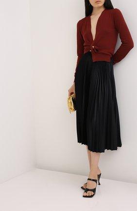 Женская юбка-миди VALENTINO черного цвета, арт. UB3MD01W5MD | Фото 2