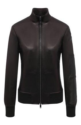 Женская кожаная куртка VALENTINO черного цвета, арт. UB3NA05S1AW | Фото 1