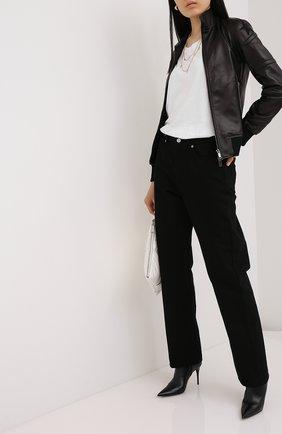 Женская кожаная куртка VALENTINO черного цвета, арт. UB3NA05S1AW | Фото 2