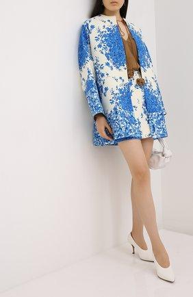 Женская юбка из шерсти и шелка VALENTINO голубого цвета, арт. UB3RA6M55LT | Фото 2