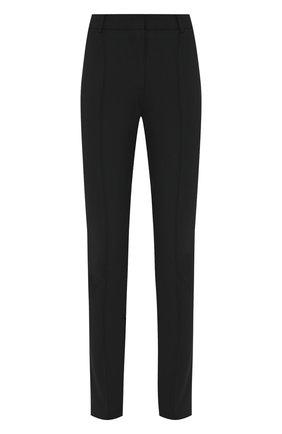 Женские шерстяные брюки VALENTINO черного цвета, арт. UB3RB3W54P6 | Фото 1 (Длина (брюки, джинсы): Стандартные; Материал внешний: Шерсть; Женское Кросс-КТ: Брюки-одежда; Случай: Формальный)