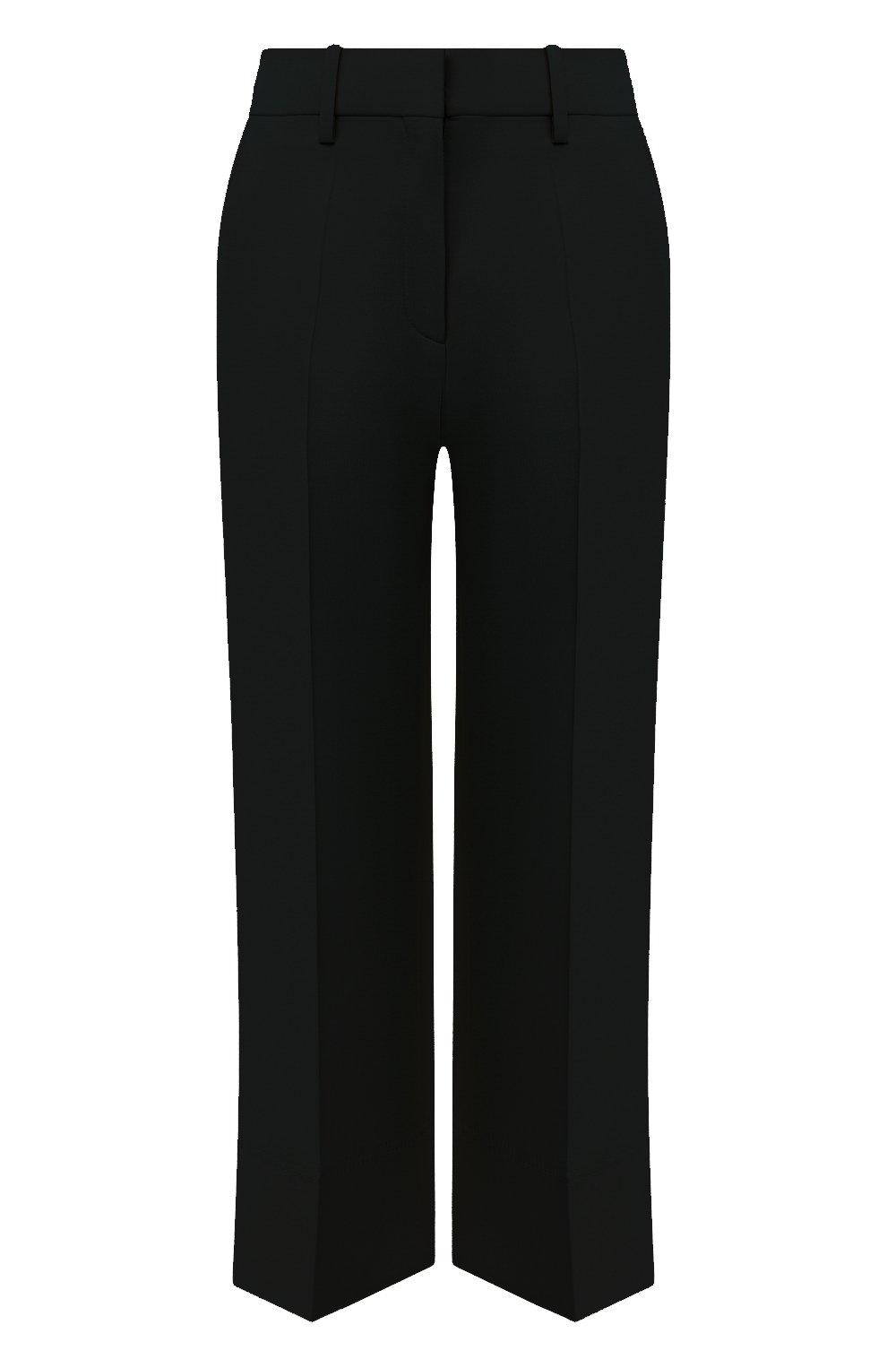 Женские брюки из шерсти и шелка VALENTINO черного цвета, арт. UB3RB3X01CF | Фото 1