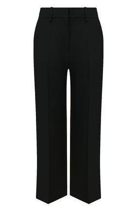 Женский брюки из шерсти и шелка VALENTINO черного цвета, арт. UB3RB3X01CF   Фото 1