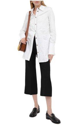 Женский брюки из шерсти и шелка VALENTINO черного цвета, арт. UB3RB3X01CF   Фото 2