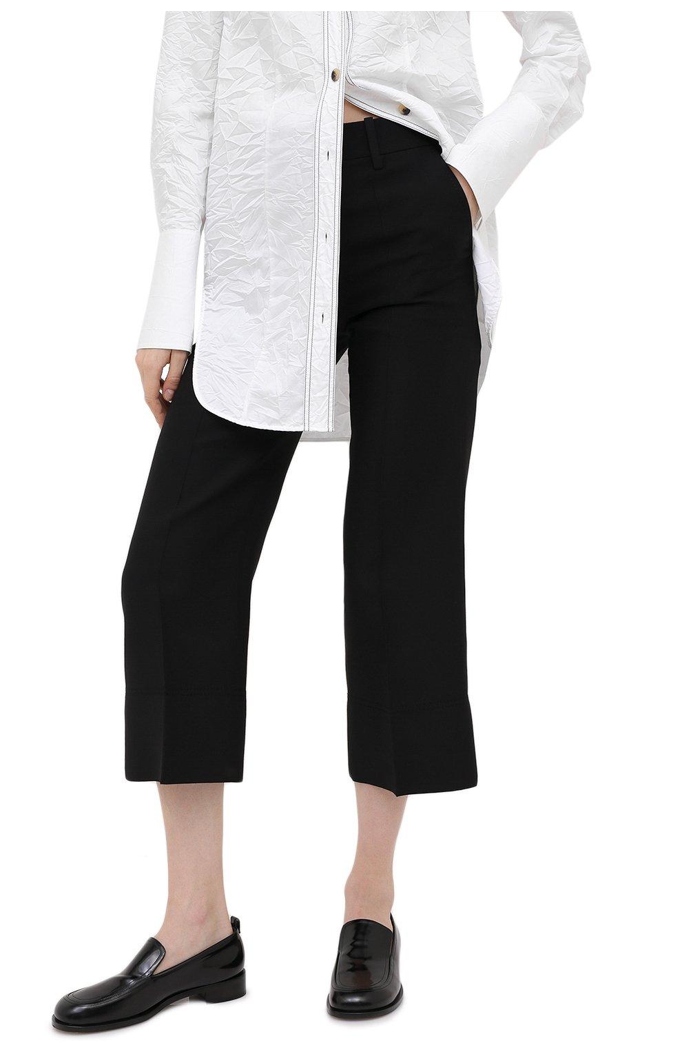 Женские брюки из шерсти и шелка VALENTINO черного цвета, арт. UB3RB3X01CF | Фото 3