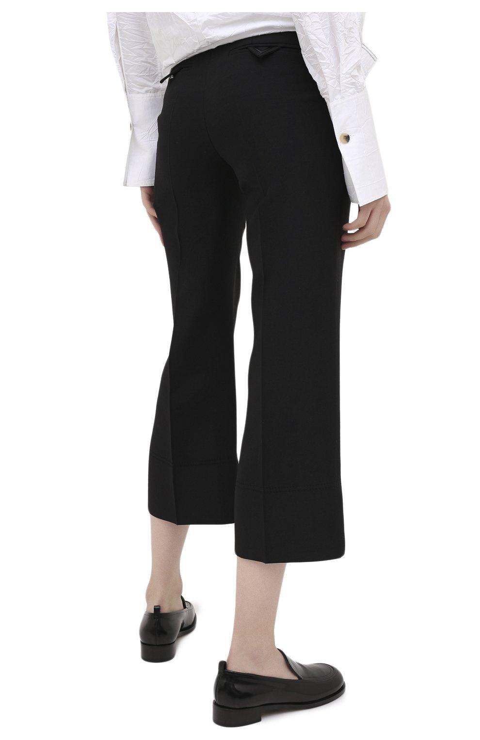 Женские брюки из шерсти и шелка VALENTINO черного цвета, арт. UB3RB3X01CF | Фото 4