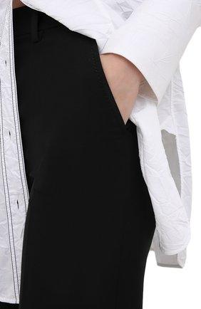 Женские брюки из шерсти и шелка VALENTINO черного цвета, арт. UB3RB3X01CF | Фото 5