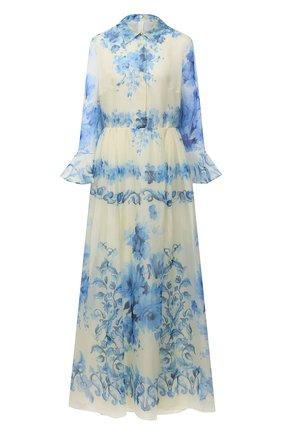 Женское шелковое платье VALENTINO голубого цвета, арт. UB3VDB155LU   Фото 1