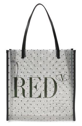 Женская сумка-шопер REDVALENTINO черного цвета, арт. UQ2B0C18/MVN | Фото 1