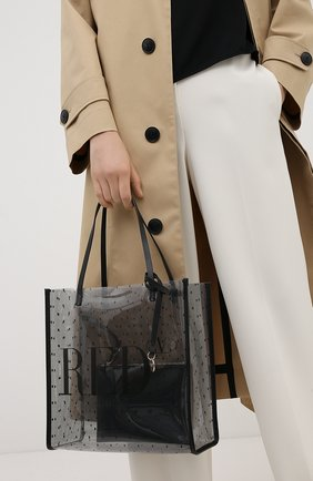 Женская сумка-шопер REDVALENTINO черного цвета, арт. UQ2B0C18/MVN | Фото 2