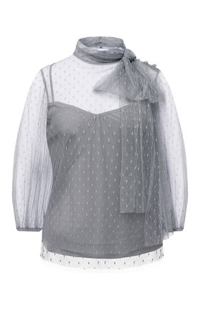 Женская блузка REDVALENTINO серого цвета, арт. UR3AAA90/1GK | Фото 1