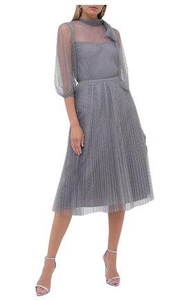 Женская блузка REDVALENTINO серого цвета, арт. UR3AAA90/1GK | Фото 2