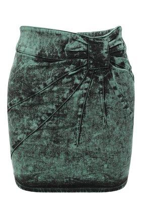 Женская джинсовая юбка REDVALENTINO зеленого цвета, арт. UR3DD02S/58V | Фото 1