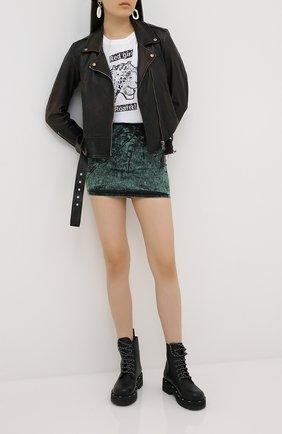 Женская джинсовая юбка REDVALENTINO зеленого цвета, арт. UR3DD02S/58V | Фото 2