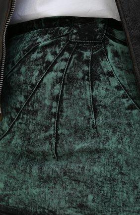 Женская джинсовая юбка REDVALENTINO зеленого цвета, арт. UR3DD02S/58V | Фото 5