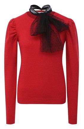 Женская пуловер из шерсти и вискозы REDVALENTINO красного цвета, арт. UR3KC01R/59B | Фото 1